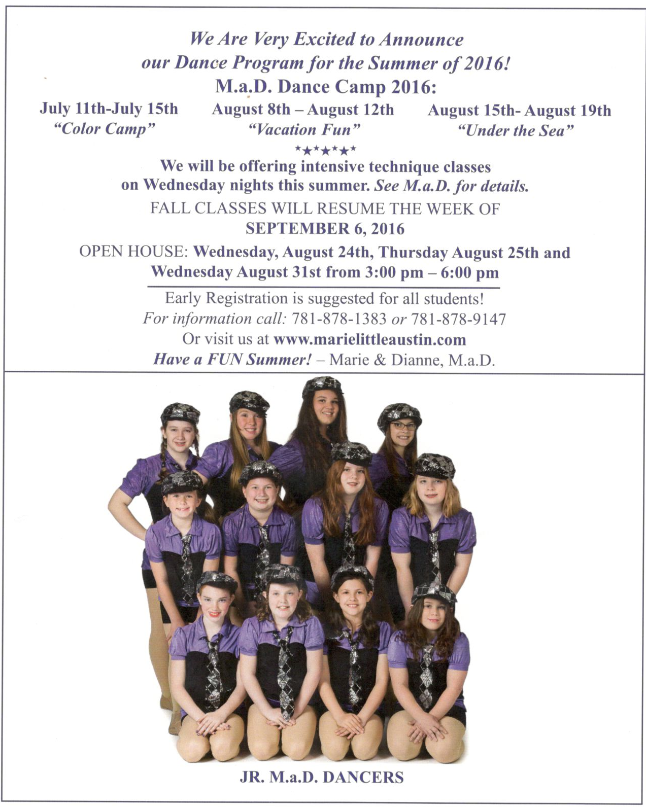 Summer camp options for your kids!